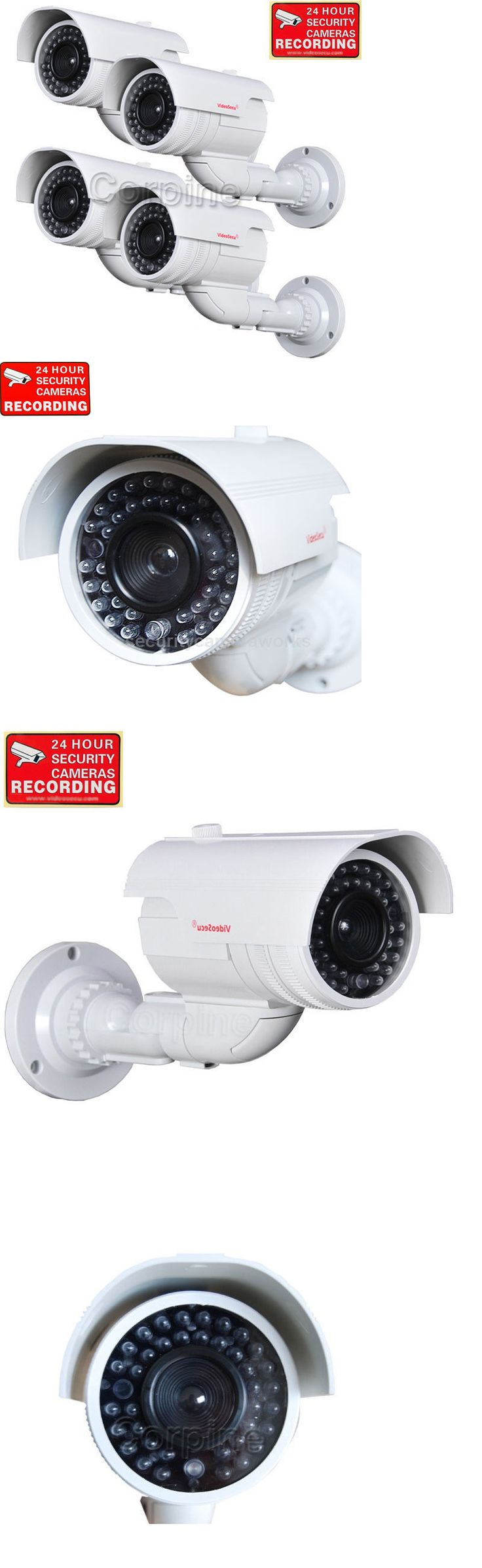Dummy Cameras: 4X Dummy Security Cameras Fake Ir Leds Flashing Light Cctv Surveillance Home Wqc -> BUY IT NOW ONLY: $62.9 on eBay!