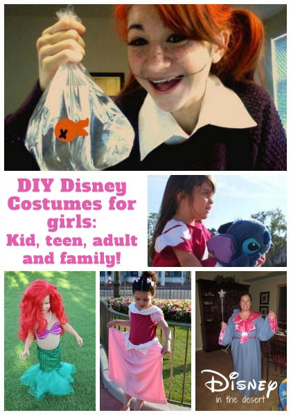 Looking for DIY Disney costumes for girls? We have some great ideas (some with tutorials) for you - spanning all ages!