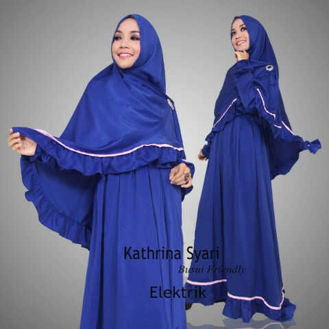Gamis Syar'i Modern KATHRINA SYARI BIRU - http://warongmuslim.com/gamis-syari/gamis-syari-modern-kathrina-syari-biru/