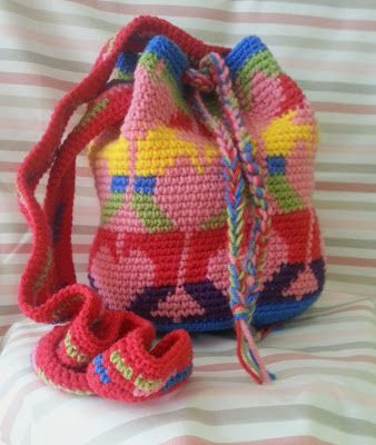 tapestry crochet bag  ☀CQ #crochet #crafts #how-to #DIY. Thanks so much for sharing! ¯\_(ツ)_/¯