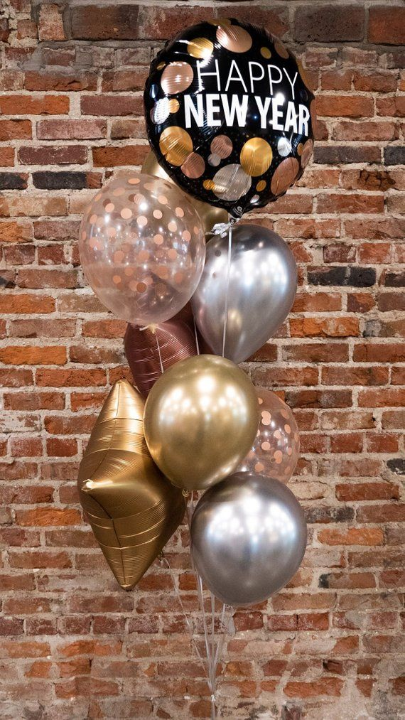 Mylar HAPPY NEW YEAR Gold /& Silver NYE New Year/'s EVE Party Balloon