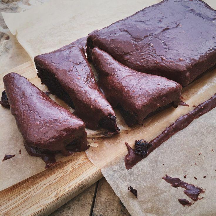Brownies in een cakevorm