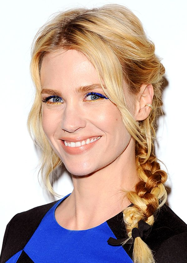 January Jones' blue gaze / le regard cobalt de January Jones