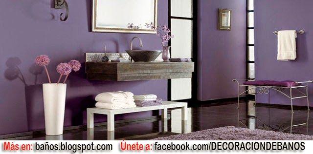 Decoración Baño Lila:BAÑOS COLOR LILA : BAÑOS: Fotos de baños – Videos de decoración de