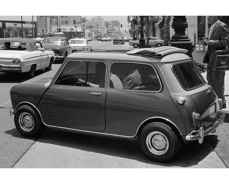 STEVE MCQUEEN AT WHEEL MORRIS MINI COOPERS MARK II 1967 HOLLYWOOD 8X10 PHOTO | eBay