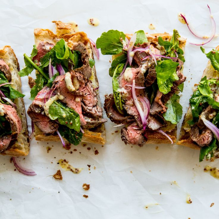 Mark your calendar: It's steak sandwich night in America. (Feeling virtuous? Remove the bread and…voilà: steak salad!)