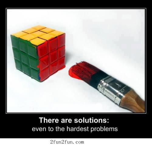 Is it just me, or is this clever as hell?  I mean, it technically IS a solution! Well done!