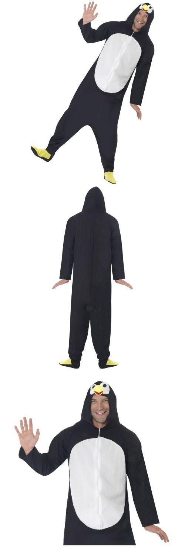 Men Costumes: Penguin Footie Pajamas Costume Funny Adult Kigurumi Halloween Fancy Dress -> BUY IT NOW ONLY: $33.19 on eBay!