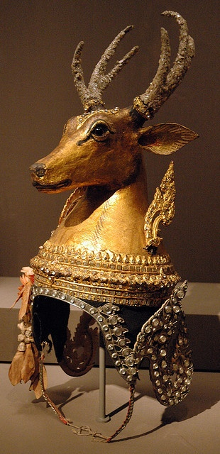 Thai deer headdress. From the collection of the Asian Art Museum of San Francisco.: Hats, Crowns, Art Museums, Artmuseum, Thai Deer, Collection, Deer Headdress, San Francisco, Asian Art