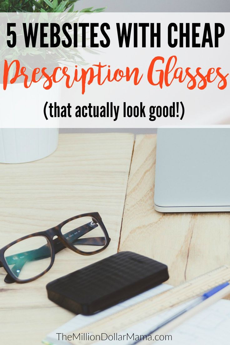 If you're trying to figure out how to save money on prescription glasses, then these 5 websites can help you save hundreds!