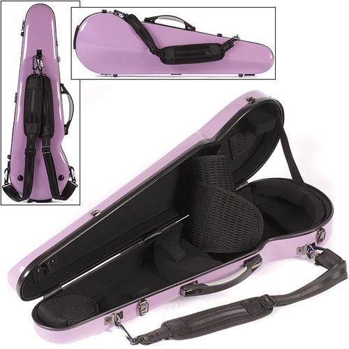Core Fiberglass Shaped Violin Case with Suspension Purple w Gray Interior | eBay