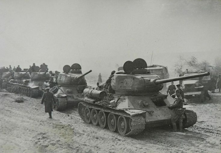 lots of T-34-85 with old turret