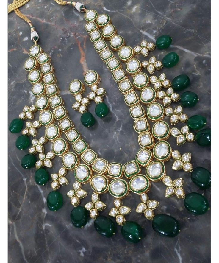 KUPANNA BRIDAL NECKLACE WITH MATCHING EARRINGS  #officialsignaturecollectionjewelry