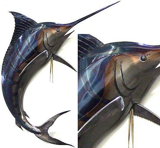 3d steel marlin sculpture