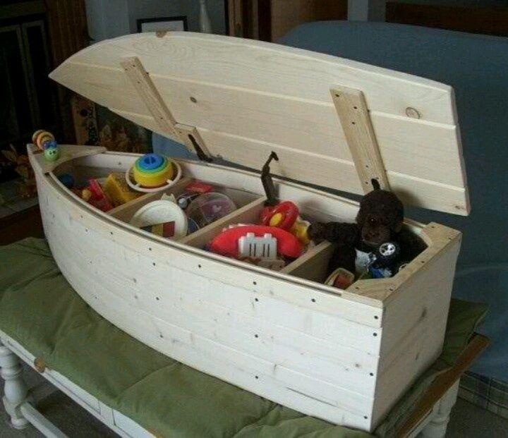 Fishing boat toy box mason pinterest boy toys for Fish box for boat