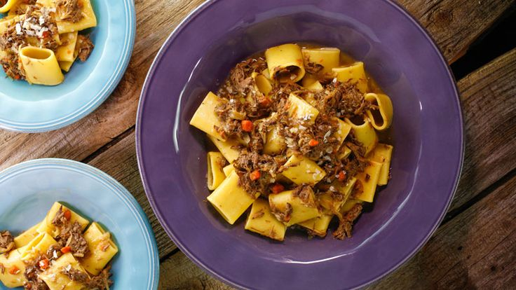 Pacchieri alla Genovese (a Naples-style meat sauce with pasta) #WhatsForDinner