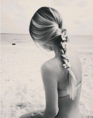 beach day flower braid