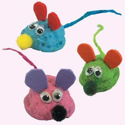 Ποντικάκια από Καρύδια για Δωράκι