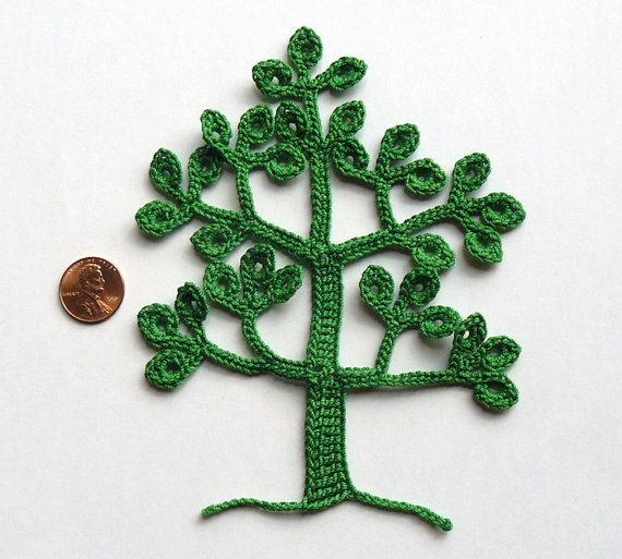 Aplique de Árvore em Crochê - /  Apply in Tree with  Crocheting -