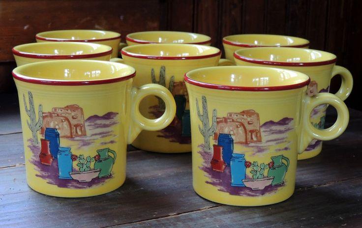 rare 8 Fiestaware FIESTACANA Betty Crocker Coffee Cup MUGS Southwestern Fiesta #Fiesta