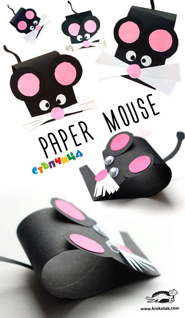 Adorable paper mouse! A cute animal craft for older kids!