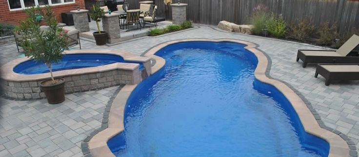 Fuji Pacific Blue with Tub model Fiberglass Pools for sale New Jersey: Dolphin Industries
