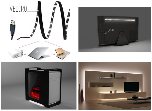 Today we started selling our new product LED Strip USB with white color. Can be use on any devices with output 5V 1A USB port, such as your computer, desktop, laptop, tablet and car cigarette charger.  https://www.amazon.com/Razon-Theater-Lighting-Backlighting-increase/dp/B01GJFDN30