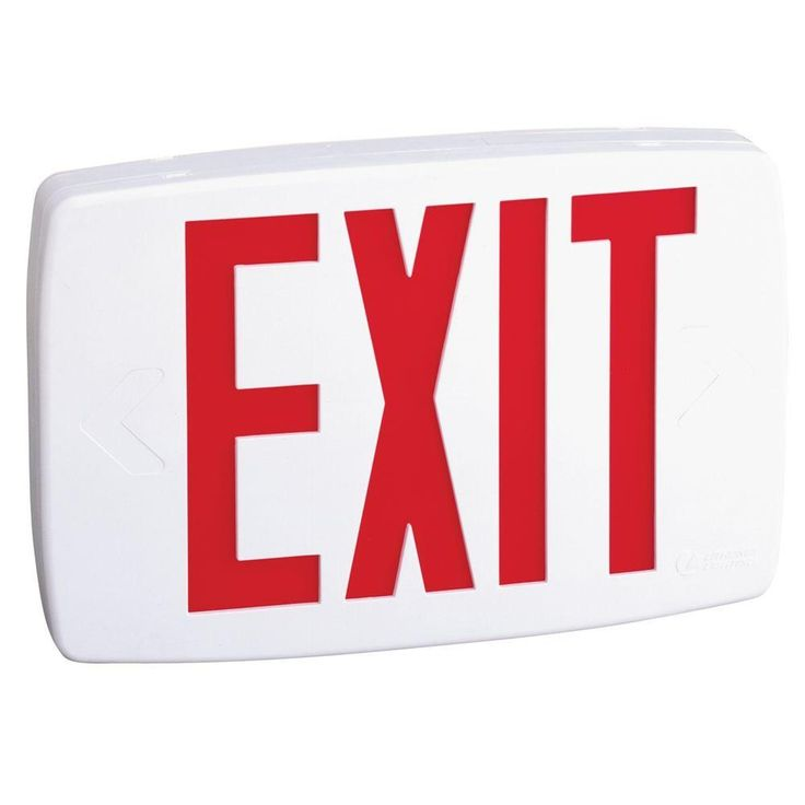 Lithonia Lighting LQM S W 3 G EL N SD M6 White/ Thermo LED Self-diagnostic NiCd Battery Emergency Exit Sign