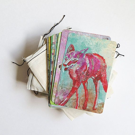 Deck of 30 Animal Medicine/Totem Cards by pixiecampbell on Etsy