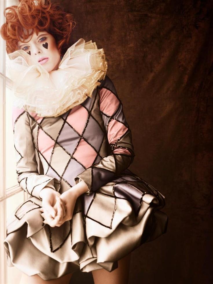 Coco Rocha - Numero circus costume and make up