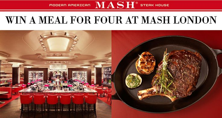 Feeling lucky? Enter to win a meal for four at MASH London at the #RegentStreetQuadrant: https://apps.facebook.com/regentstcompetitions/