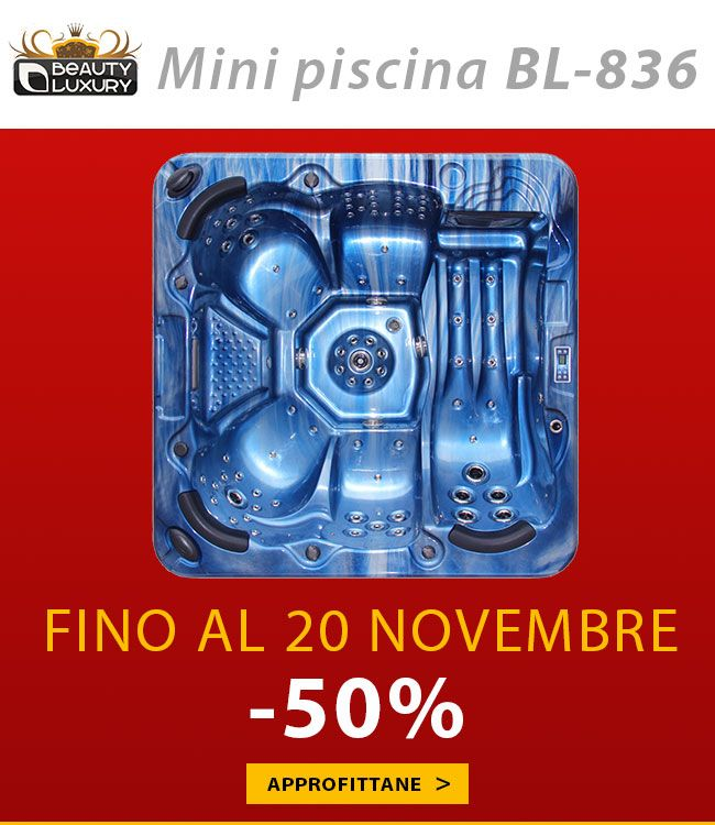 Discover the Hot tub BL-836 with 50% off. Offer valid until November 20, 2014. http://www.beauty-luxury.com/en/hot-tub-spa-bl836-p-243.html