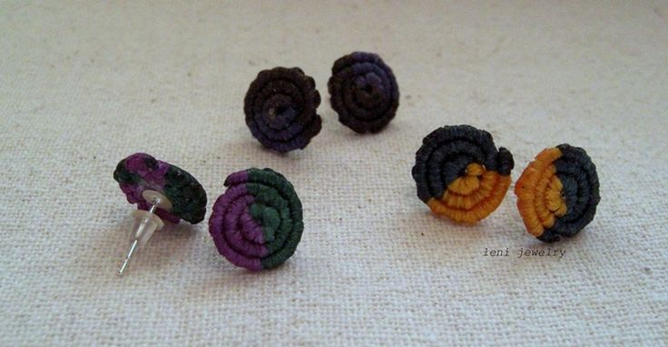 Spiral small earrings.