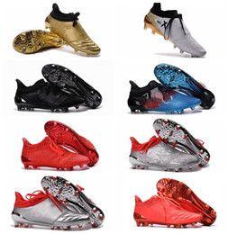 X 16+ Purechaos FG AG Cheap High Top Football Cleats For Men Football Boots Mens Soccer Boots Newest Soccer Cleats Football Soccer Shoes