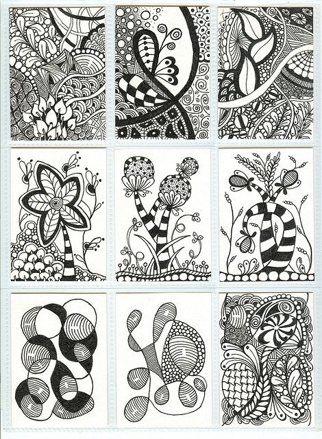 Zentangle ATCs by PRaile