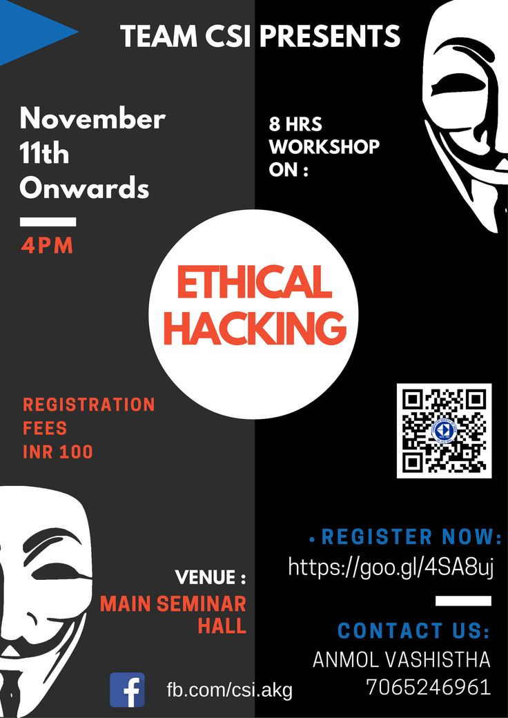 Another Poster for Ethical hacking Workshop Graphics Pinterest - certified ethical hacker resume