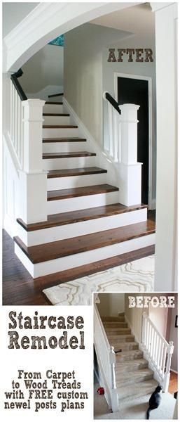 Entry and stairway makeover reveal.... — Beckwith's Treasures