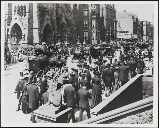 Love the gargoyles  and that    Easter In NYC, Every Decade From The 1890s Through 1970s: Gothamist