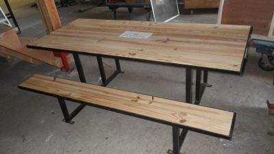 refurbished wood metal picnic table | New Picnic Tables Made from Salvaged Wood & Metal! (SOLD OUT)