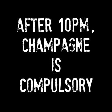 'After 10PM, Champagne Is Compulsory' Print - contemporary - Prints And Posters - Cool Culinaria