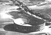 Plaza Torro en 1950ملعب مصارعة الثيران بطنجة المغرب 1950