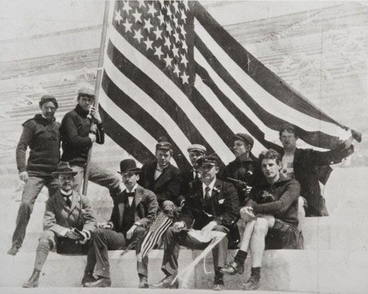 American athletes at the 1896 Olympics.