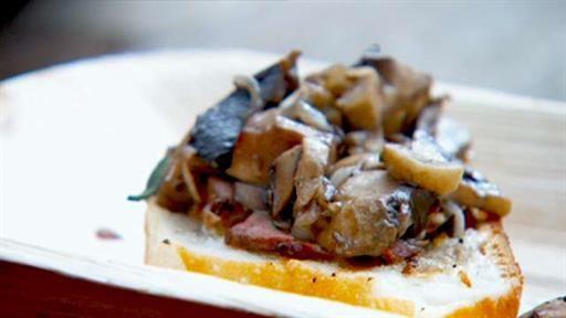 Crostini of mushroom and roasted veal | MasterChef Australia