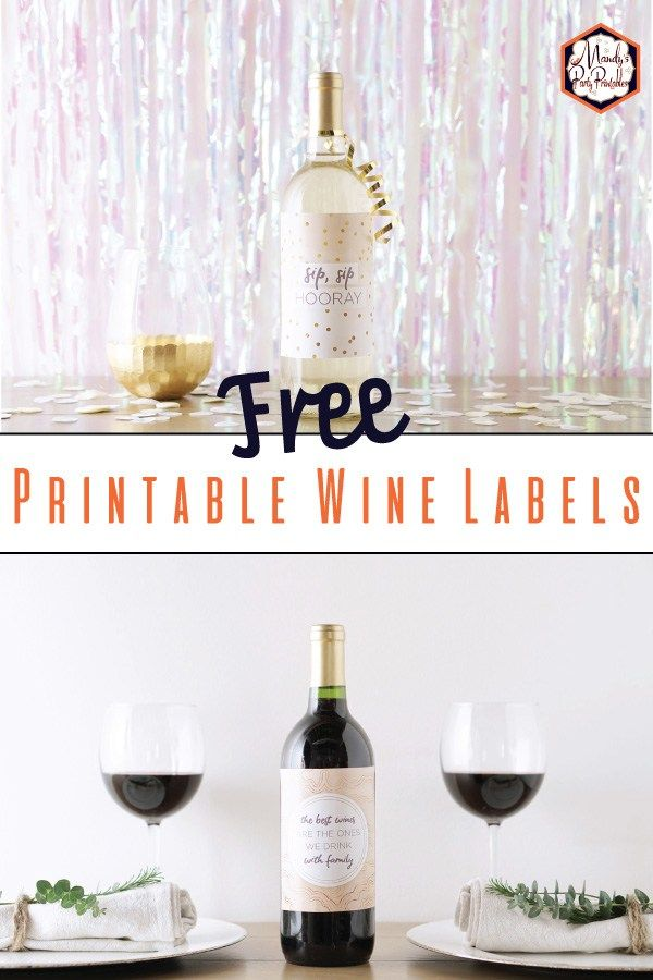 photograph regarding Free Printable Wine Labels named 6 Printable Wine Bottle Labels Card Strategies Wine bottle