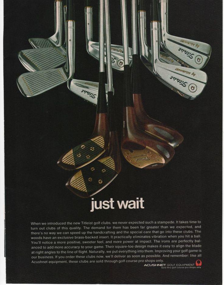 1970 - ACHUSHNET NEW TITLEIST GOLF CLUBS - VINTAGE PRINT AD