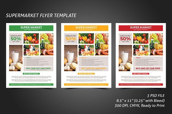 Milk Shop Flyer Template by meisuseno on @creativemarket - discount flyer template