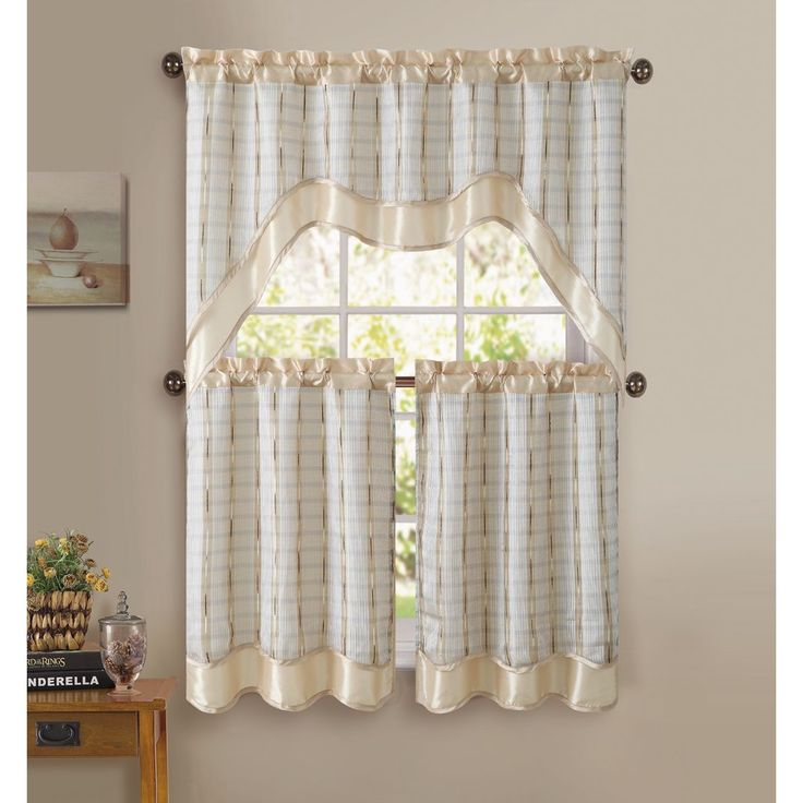 This Gorgeous Embroidered Kitchen Curtain Set From Victoria Classics Adds A  Splash Of Color To Any