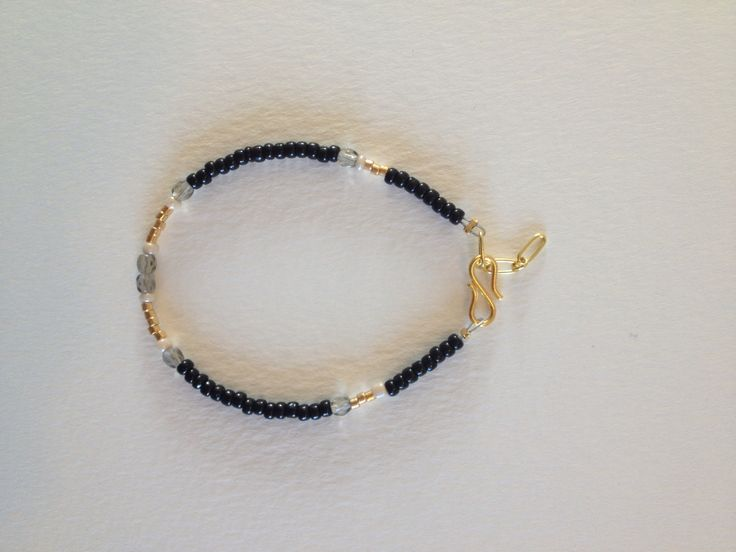 Gold and Black bracelet made to order
