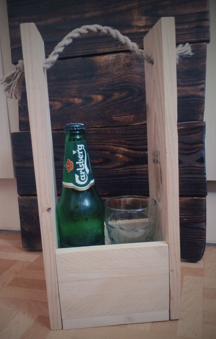 Handmade bottle holder from pallets in rustic style by SoulIdeas on Etsy