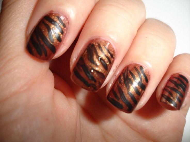 7 best tiger nails images on pinterest tiger nails awesome and diy tiger nail art diy nails art prinsesfo Choice Image